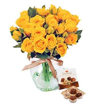 Contagiar de Rosas Amarelas e Trufas