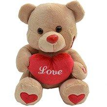 Urso Beijinho Com Luz e Coração