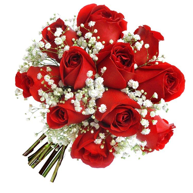 Mini Buquê Inspiração Vermelho 12 Rosas