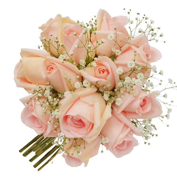 Buquê Tradicional Inspiração Champanhe 12 Rosas