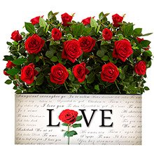 Love & Mini Rosas Vermelhas