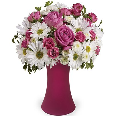 Poesia Mix de Rosas & Margaridas Luxo
