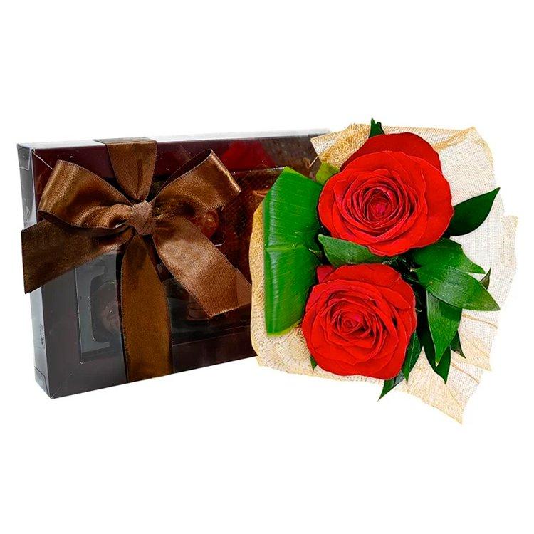 Rosas Vermelhas e Bombons