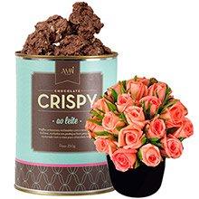 Mini Rosas & Crispy Ao Leite
