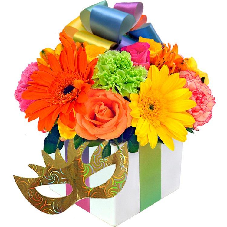 Presente de Flores Coloridas Carnaval