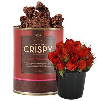 Mini Rosas & Crispy Ao Leite com Canela