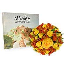 Flores Nobre Amarelas & Livro Mamãe