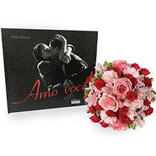 Buquê Luxuoso Mix de Flores & Livro Amor