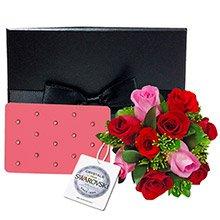 Buquê de Rosas Nacionais & Luggage Tag Rosa