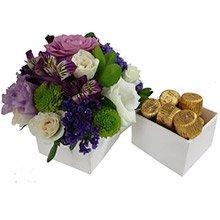 Mix de Flores Lilás & Bombons Alpino