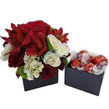 Mix de Flores Vermelhas & Bombons Lindt