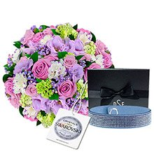 Mix de Flores & Sofisticado Bracelete Aqua