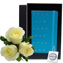 Rosas Brancas & Pu Notebook Blue