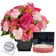 O Segredo da Flor Pink & Bracelete Rosê