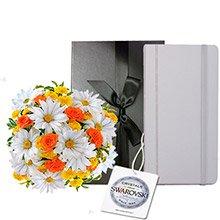 Mix de Margaridas e Rosas & Notebook Diary