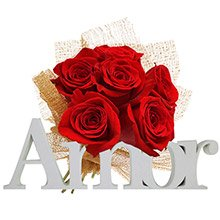 Buquê Delicadeza Rosas Vermelhas & Amor