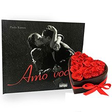 Coração do Cupido Red & Livro Amo Você