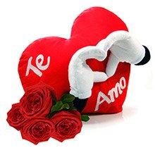 Coração Te Amo & Rosas Vermelhas