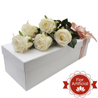 Paixão de Rosas Brancas Artificiais