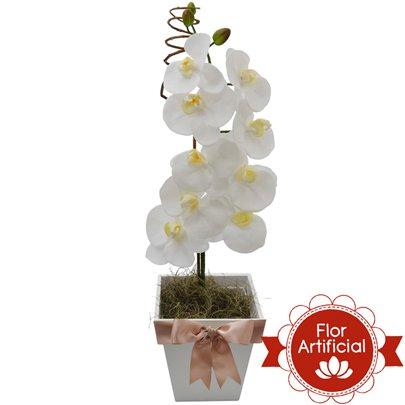 Deslumbrante Orquídea Branca Artificial
