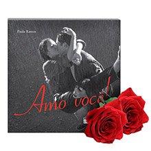 Rosas & Livro Amo Você