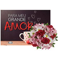 Buquê Mix & Livro Para Meu Grande Amor