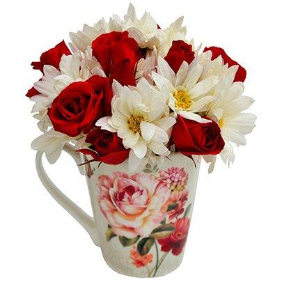 Caneca Floral Vermelha