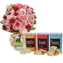 Delicado Mix de Flores & Sequilhos