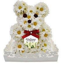 Urso de Flores Brancas