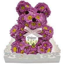 Urso de Flores Lilás