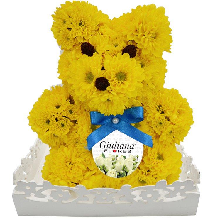 Urso de Flores Amarelas