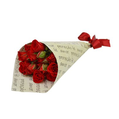 Mini Buquê de Rosas Vermelhas