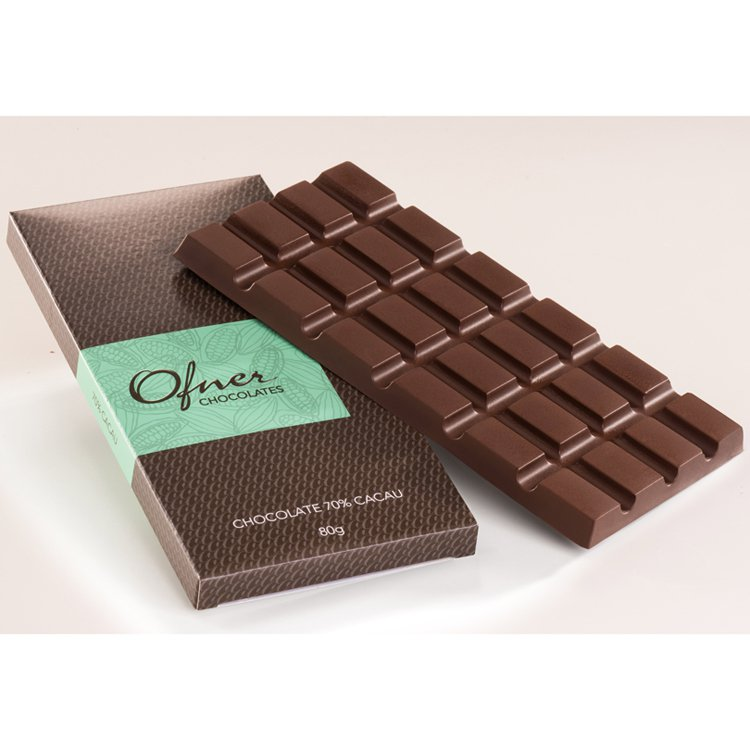 Tablete Chocolate 70% Cacau 80g Ofner