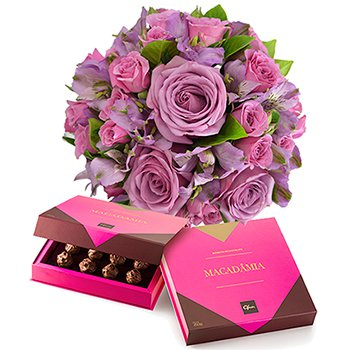 Mix de Flores Lilás & Chocolate Macadâmia