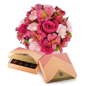 Mix de Flores Pink & Chocolate Confiseur