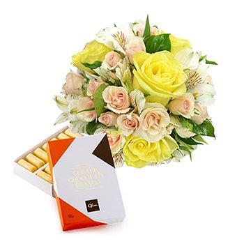 Mix de Flores Ouro & Gouter Branco