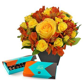 Segredo da Flor Orange & Chocolate Art de L'ocean