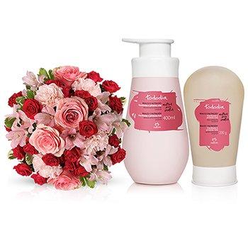Natura Tododia Framboesa e Pimenta Rosa & Buquê de Rosas