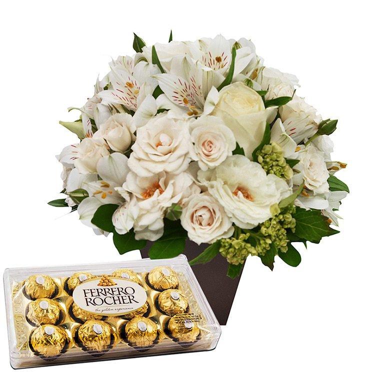O Segredo da Flor Branco e Ferrero Rocher