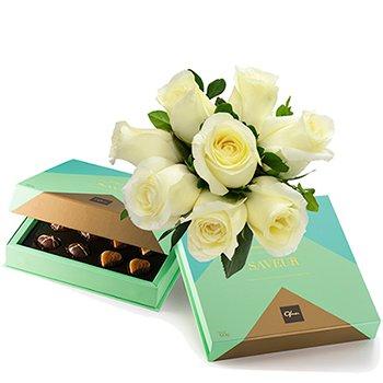 Rosas Brancas & Chocolate Saveur