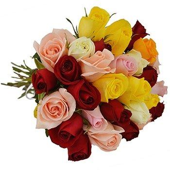 Buquê de 30 Rosas Coloridas