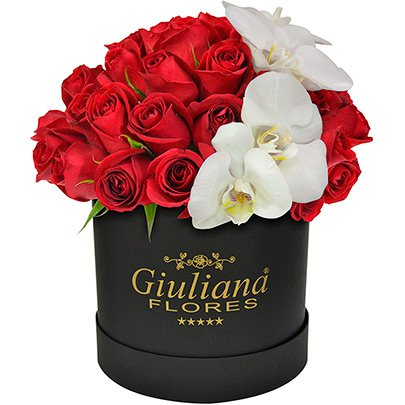 Majestoso Luxo de Rosas e Orquídeas Black