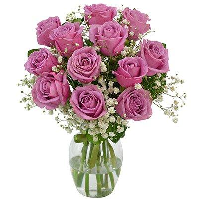 Elegância das Rosas Lilás