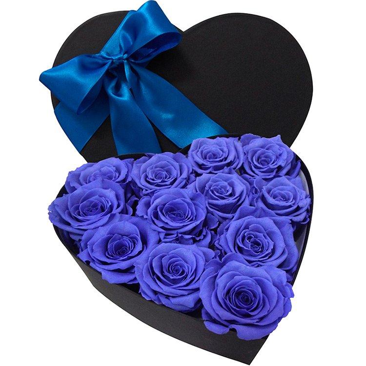 Coração de Rosas Encantadas Cor Azul