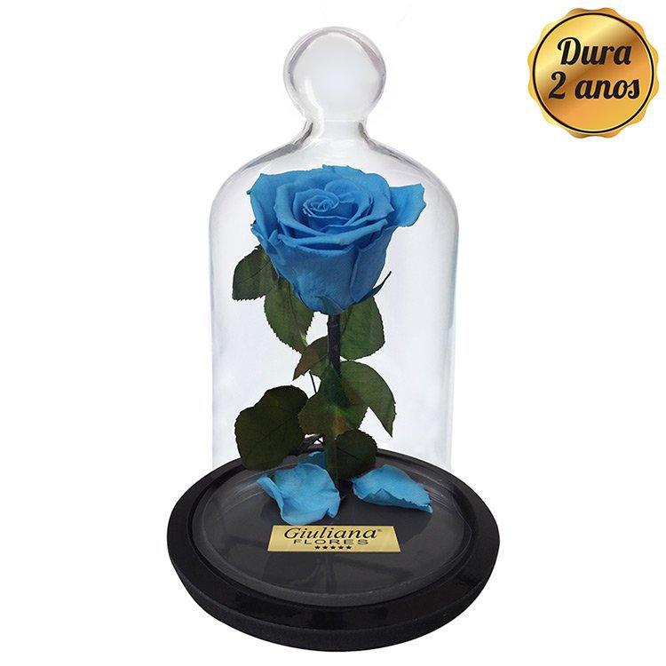 A Rosa Encantada Azul Clara