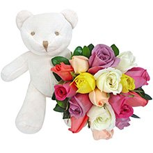 Ursinho Precioso e Rosas
