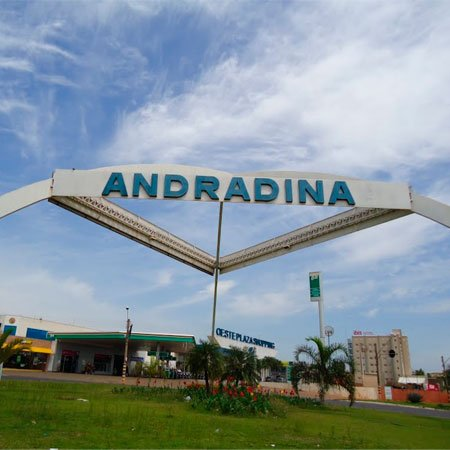 Foto da Entrada da Cidade de Andradina