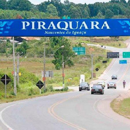Foto do Letreiro da Cidade de Piraquara