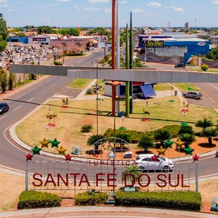 Foto do Trevo da Cidade de Santa Fé do Sul