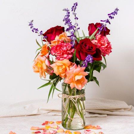 Arranjo com Rosas Coloridas